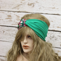 tribal Turban stretchy headband yoga headband ear warmer womens head wrap girly accessories twisted headband,Cute Hair Bands,jersey headband