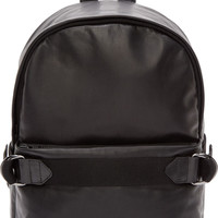 Black Leather Aliot Backpack
