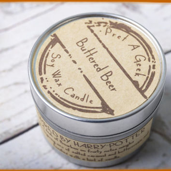 Fandom Candle ~ Harry Potter Inspired  ~ Buttered Beer ~ 4oz Soy Candle