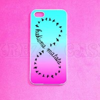 Krezy Case © iPhone 5c Case, Hakuna Matata in infinity iPhone 5c Case for iPhone 5c, iPhone 5c Case, Cute iPhone 5c Case