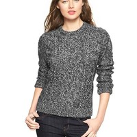 Gap Women Cable Metallic Sweater Size XXL - charcoal heather