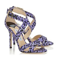 Violet Floral Printed Jacquard Sandals | Lottie | Spring Summer 15 | JIMMY CHOO Shoes