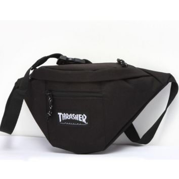 Thrasher Fashion Casual Sport Daypack Bookbag Shoulder Bag Travel Bag School Backpack And Pocketed Set Wine red G