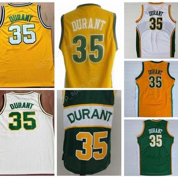 Cheap 35 Kevin Durant Basketball Jerseys Sale Men For Sport Fans Kevin Durant Jersey Embroidery And Sewing Green Yellow White Red