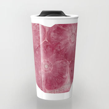 Heart Shape Stone Art Travel Mug by Lena Owens/OLenaArt