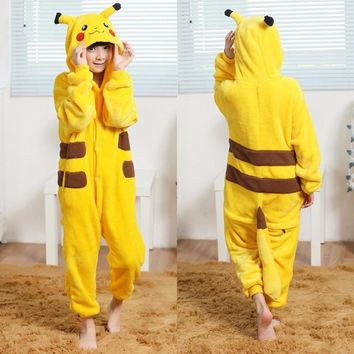 kids pokemon baby pokemon costume pikachu hoodies girl Onesuit pajamas child halloween cosplay costumes for kid boys babies