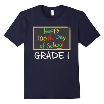 Happy 100th Day of School First Grade Kids 100 Days TShirt