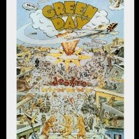 """Green day Billie Joe Armstrong tour poster . new dookie approx 34"""" x 24"""" inch ( 87 x 61 cm )"""