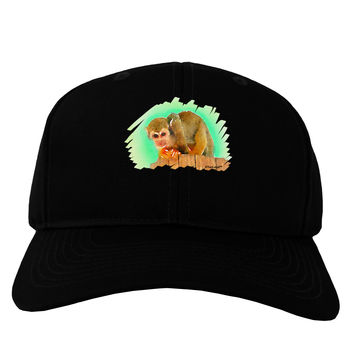 Squirrel Monkey Watercolor Adult Dark Baseball Cap Hat