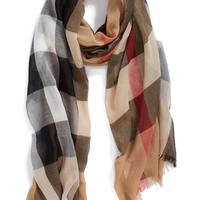 Burberry Brit Sheer Mega Check Scarf | Nordstrom
