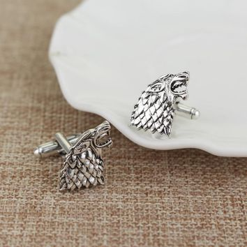 Game of Thrones Stark Cufflinks New Hot Shirt Cufflinks For Men's Wedding Party Brand Cuff Button High quality Vintage Jewelry