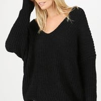 Modern Classics Black Knit Pullover - FINAL SALE