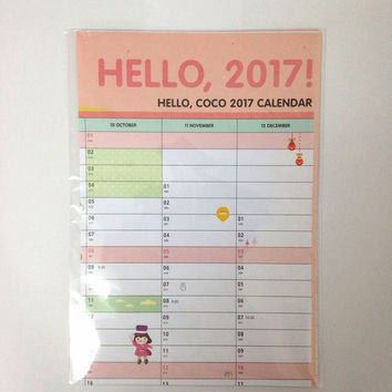 2017 New Arrival Year Plan 365 Calendar Days Schedule Timetable For Study & Work Plan Office Hanging Agenda