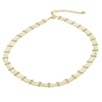 Amanda Rose Fancy Diamond Cut Choker Necklace in 14k Yellow Gold (16 inch)