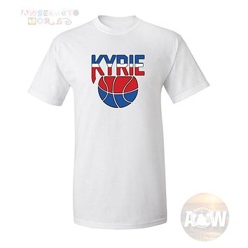 Kyrie Irving Oldschool Nets Logo Brooklyn Basketball Tee Adult Unisex T Shirt