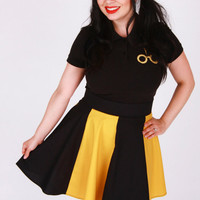 Black and Gold House Skirt