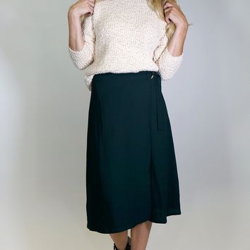 Hunter Green Wrap Skirt