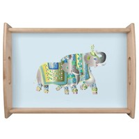 Pair Of Elephants Serving Tray