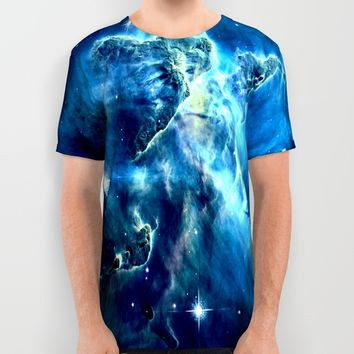 galaxy nebula All Over Print Shirt by 2sweet4words Designs