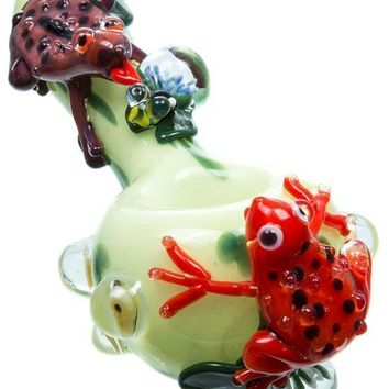 Empire Glassworks Frog Themed Spoon Pipe