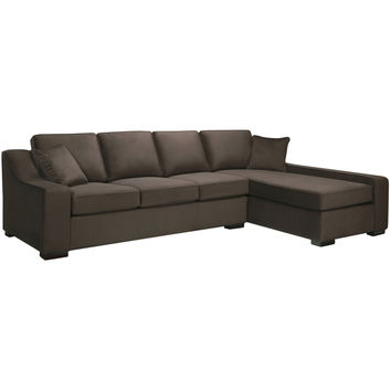 Presley Dark Brown Sectional Sofa | Overstock.com Shopping - The Best Deals on Sectional Sofas