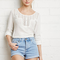 Crocheted Slub Knit Top