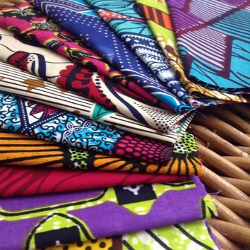 Instant collection, 14 fat quarters,  African wax print fat quarters x14 100% cotton, African wax