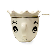Queen's Cup Teacup and Tea Steeper
