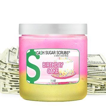 Birthday Cake Cash Sugar Scrub