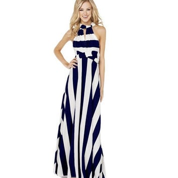Shop Blue Nautical Dress on Wanelo