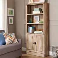 Better Homes and Gardens Crossmill Bookcase with Doors, Weathered - Walmart.com