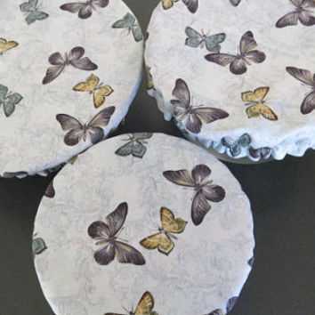 Reusable Bowl Covers, Elastic Bowl Lids, Eco Friendly Lids, Butterfly Bowl Covers
