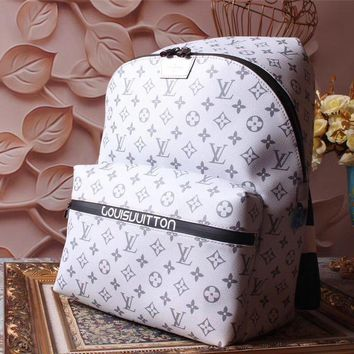 Lv Louis Vuitton Classic Monogram Canvas Backpack Bag