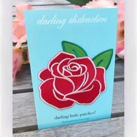 DARLING DISTRACTIONS ROSE PATCH RED