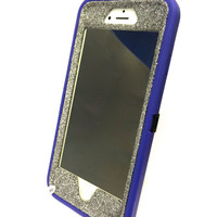 iPhone 6 (4.7 inch) OtterBox Defender Series Case Glitter Cute Sparkly Bling Defender Series Custom Case  purple / graphite