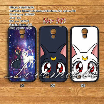 Sailor Moon LUNA & ARTEMIS cat,samsung galaxy S4 mini/S3 mini case/S4,samsung Galaxy S3,samsung galaxy note 3 case,samsung galaxy s4 active