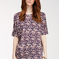 Abstract Print Dolman Top