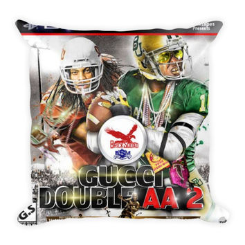 Gucci Double AA 2 (16x16) All Over Print/Dye Sublimation Waka Flocka Gucci Mane Couch Throw Pillow Insert & Pillow Case/Cover