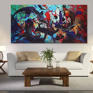 Modern Abstract Canvas Print Art Oil Painting Wall Picture Home Decor Unframed