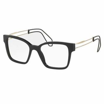 Miu Miu Open-Inset Square Optical Frames, Black