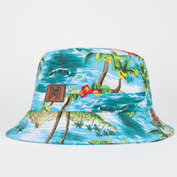 Premier Fits Tropical Palm Mens Bucket Hat Blue Combo One Size For Men 24687024901