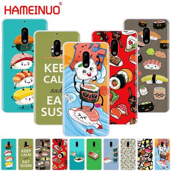 4445d92a297 HAMEINUO Japanese cuisine Sushi food cover phone case for Nokia 9 8 7 6 5 3