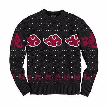 Naruto Shippuden Akatsuki Cloud Anime Adult Knit Sweater