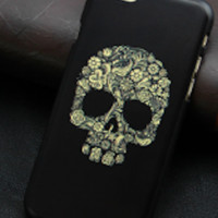 Flowered Skull Iphone 6 Phone Case
