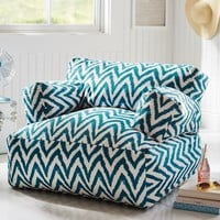 Dark Pool Tie Dye Chevron Eco Lounger