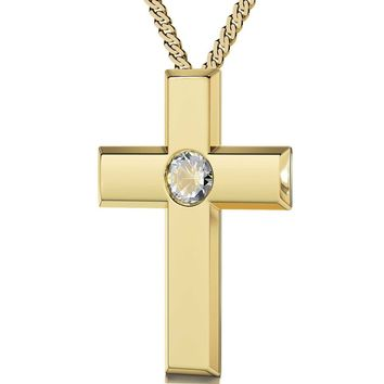 """The Lord's Prayer"" Modern Version, 24k Gold Plated Necklace, Swarovski"