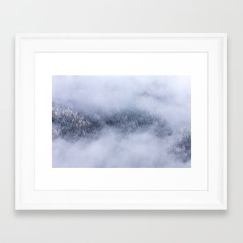 Beneath The Fog Framed Art Print by Mixed Imagery