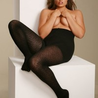 Plus Size Lingerie | Plus Size Hosiery | Animal Print Shaping Hosiery | Hips & Curves