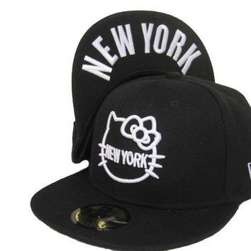 Hello Kitty New Era 59FIFTY New York Cap Black-White