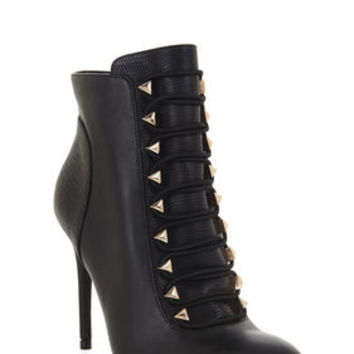 BCBG Bari Exotic Combo Lace-Up Day Bootie